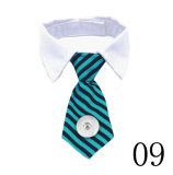 Pet bow tie printing cats and dogs accessories solid color striped plaid pet supplies fit  1 18&20MM snap buttom snap jewelry