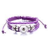 1 buttons leather with rhinestone new type adjustable Bracelet fit 20mm snaps chunks