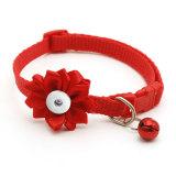 Pet Bell Blumenhalsbänder Hundehalsbänder Halsbänder Katzenhalsbänder Zubehör für 1 18 & 20MM Snap Buttom Snap Schmuck