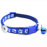 Footprint Bell Collar Dog Cat Collar Collar Collar Teddy Small Dog Special fit  1 18&20MM snap buttom snap jewelry