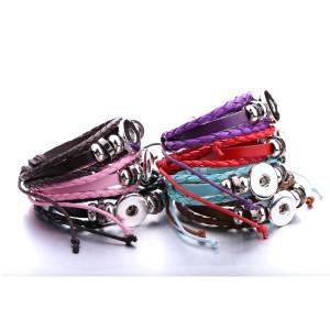 1 Knöpfe Leder mit Strass neue Art verstellbares Armband passend für 20mm Druckknöpfe Brocken
