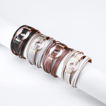 Multilayer Bracelet Couples Hand Ornaments Ethnic Hollow Round Jade