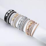 Kleines Seestern-eingelegtes Diamantlederarmband im Feiertagsstil