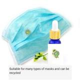 Edelstahl hohle Aromatherapie Maske Schnalle Mini magnetisches Aroma ätherische Ölclip Schnalle Atemventil Maske Zubehör für Männer und Frauen