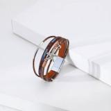Bracelet multicouche personnalité mode diamant étoile de mer bracelet dames loisirs vacances style petite perle ronde bijoux