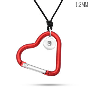 Love hook necklace  chain adjustable  fit 12MM chunks snaps jewelry