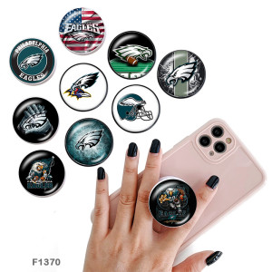 Logo de sports d'équipe Le support de téléphone portable Prises de téléphone peintes avec une base imprimée noire ou blanche