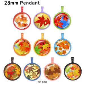 10 шт. / Лот, кленовые листья, стеклянные изделия для печати изображений различных размеров, магнит на холодильник, кабошон