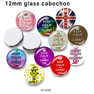 10 шт. / Лот Keep Calm стеклянная продукция для печати изображений различных размеров магнит на холодильник кабошон