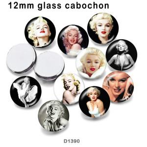 10 шт. / Лот знаменитые звезды на стекле, продукты для печати изображений различных размеров, магнит на холодильник, кабошон