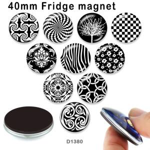 10 шт. / Лот узор стеклянная продукция для печати изображений различных размеров магнит на холодильник кабошон
