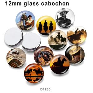10 шт. / Лот стекло для пистолета изображение полиграфической продукции различных размеров магнит на холодильник кабошон
