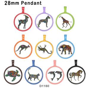 10 pcs/lot chat éléphant cheval verre image produits d'impression de différentes tailles réfrigérateur aimant cabochon