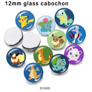 10 pcs/lot Animaux Elfes produits d'impression d'images en verre de différentes tailles Cabochon d'aimant de réfrigérateur