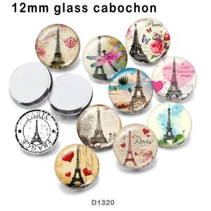 10 шт. / Лот Эйфелева башня стеклянная печать изображений продукции различных размеров магнит на холодильник кабошон