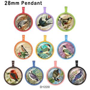 10 шт. / Лот птица стекло изображение полиграфическая продукция различных размеров магнит на холодильник кабошон