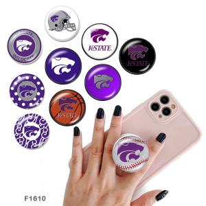 Логотип командных видов спорта Держатель для мобильного телефона Окрашенные телефонные розетки с черным или белым принтом на основании