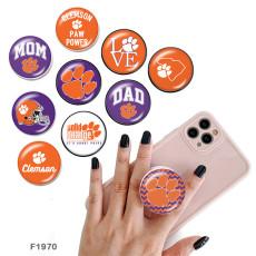 チームスポーツロゴ携帯電話ホルダー黒または白のプリントパターンベースの塗装済み電話ソケット