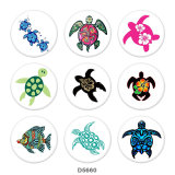 Painted metal Painted metal 20mm snap buttons  snap buttons  Sea  turtle  Print