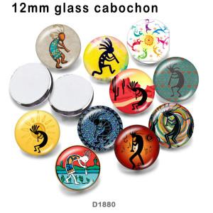 10 шт. / Лот стеклянный камень для печати изображений различных размеров магнит на холодильник кабошон