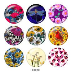 Окрашенный металл Окрашенный металл Кнопки с кнопками 20мм Кнопки с цветочным принтом бабочки
