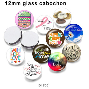 10pcs/lot  words  Ribbon   glass picture printing products of various sizes  Fridge magnet cabochon