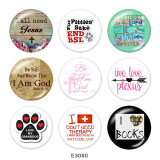 Painted metal Painted metal 20mm snap buttons  snap buttons  Cross  Print