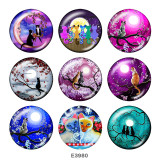Painted metal Painted metal 20mm snap buttons  snap buttons   Moon  Cat  Print
