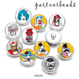 Painted metal Painted metal 20mm snap buttons  snap buttons  Dog  Print