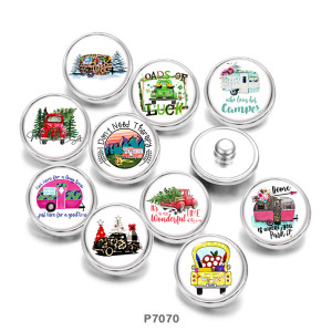 Painted metal 20mm snap buttons  words   Car   Print