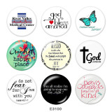 Painted metal Painted metal 20mm snap buttons  snap buttons  God Lovwes Me  Cross  Print