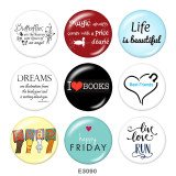 Painted metal Painted metal 20mm snap buttons  snap buttons  Happy Firday  Print