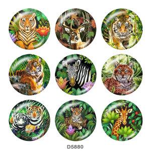 Окрашенный металл Окрашенный металл Кнопки с кнопками 20мм Кнопки с принтом тигрового оленя