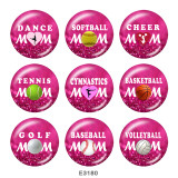 Painted metal Painted metal 20mm snap buttons  snap buttons  Dance  MOM  Print