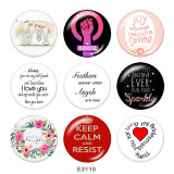 Painted metal Painted metal 20mm snap buttons  snap buttons  Keep  Calm   Print