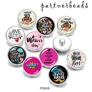 Painted metal Painted metal 20mm snap buttons  snap buttons  Best mom gevs  Print