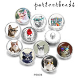 Painted metal Painted metal 20mm snap buttons  snap buttons   Cat  Print