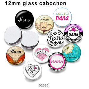 10pcs/lot   Nana   glass picture printing products of various sizes  Fridge magnet cabochon