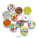 Painted metal 20mm snap buttons   Volleyball   Basketball   Print