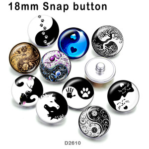 10pcs/lot  Black and white  glass picture printing products of various sizes  Fridge magnet cabochon