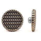 20MM Design Heart LOVE Perle Metall Druckknopf vergoldeter Druckknopf