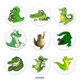 Painted metal Painted metal 20mm snap buttons  snap buttons  crocodile  Print