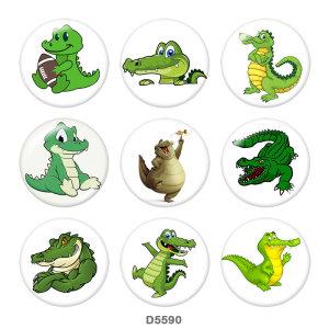 Окрашенный металл Окрашенные металлические кнопки на кнопках 20мм Кнопки с крокодиловой печатью