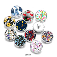 Painted metal Painted metal 20mm snap buttons  snap buttons   Pattern  Flower   Print