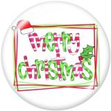 20mm Druckknöpfe aus lackiertem Metall Weihnachtsdruck