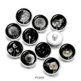 Painted metal 20mm snap buttons  Dandelion   Print