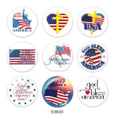 Lackiertes Metall Lackiertes Metall 20mm Druckknöpfe Druckknöpfe USA Flag Print