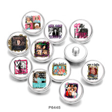 Painted metal 20mm snap buttons   Famous  music  Print