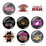 Painted metal Painted metal 20mm snap buttons  snap buttons  Football  MOM  Print