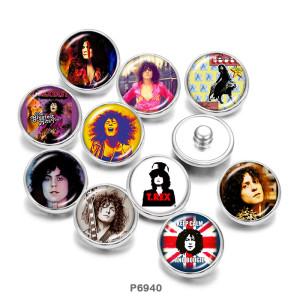 Окрашенный металл 20-миллиметровые кнопки Известная музыка Принт